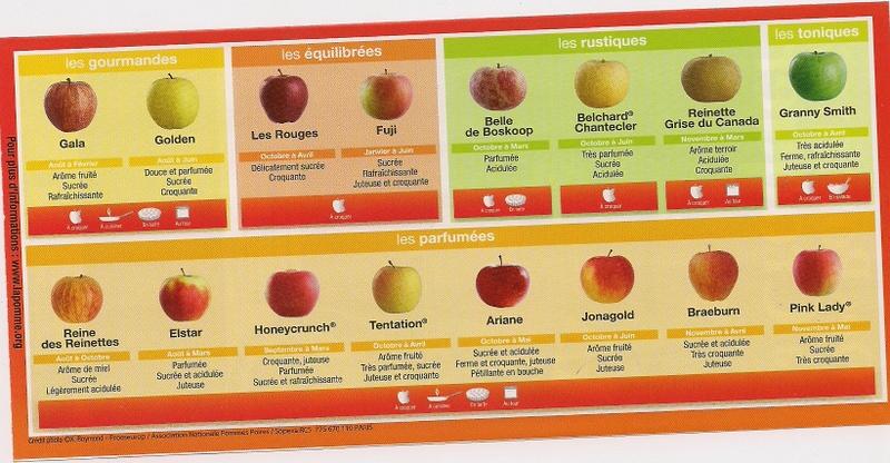 Vari t s de pommes sur notre blog - Tableau pomme de terre varietes ...